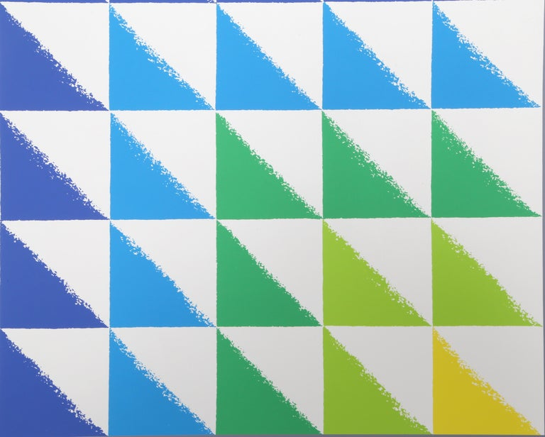 Triangulated Squares, Bauhaus Silkscreen by Herbert Bayer For Sale 3