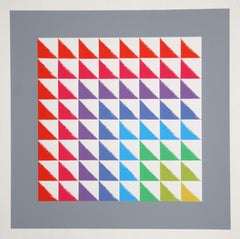 Triangulated Squares, Bauhaus Silkscreen by Herbert Bayer
