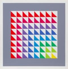 Triangulated Squares, Bauhaus Silkscreen by Herbert Bayer