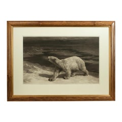 Herbert Dicksee Etching, a Polar Night, Signed in Pencil, 1912
