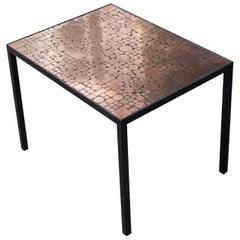 Herbert Hirche Copper Side Table for Rosenthal, 1970s