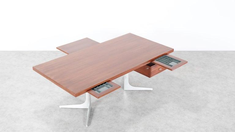 Herbert Hirche Executive Writing Desk Top Series by Christian Holzäpfel, 1967 16