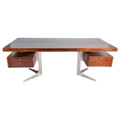 Herbert Hirche Minimalist 'Top Series' Executive Desk in Rosewood