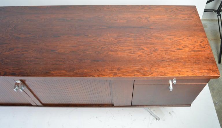 Canadian Herbert Hirche Minimalist 'Top Series' Rosewood Credenza For Sale