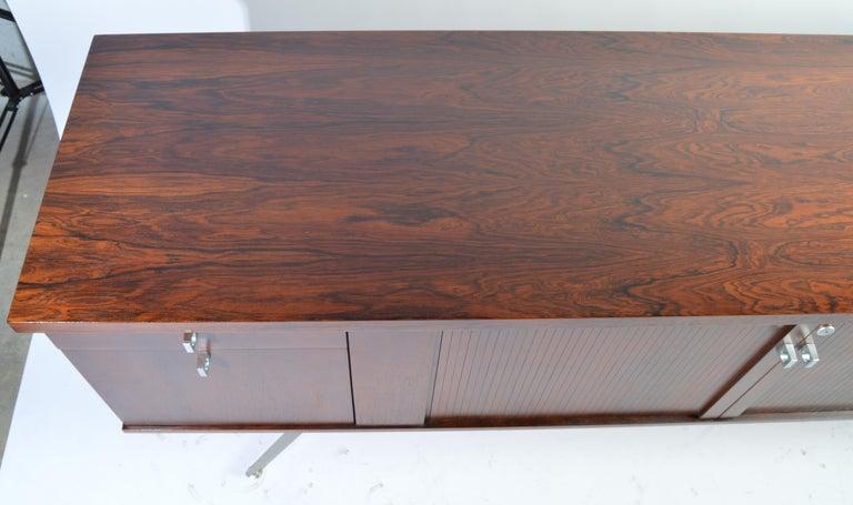 Veneer Herbert Hirche Minimalist 'Top Series' Rosewood Credenza For Sale