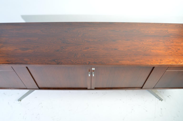 Herbert Hirche Minimalist 'Top Series' Rosewood Credenza In Good Condition For Sale In Southampton, NJ