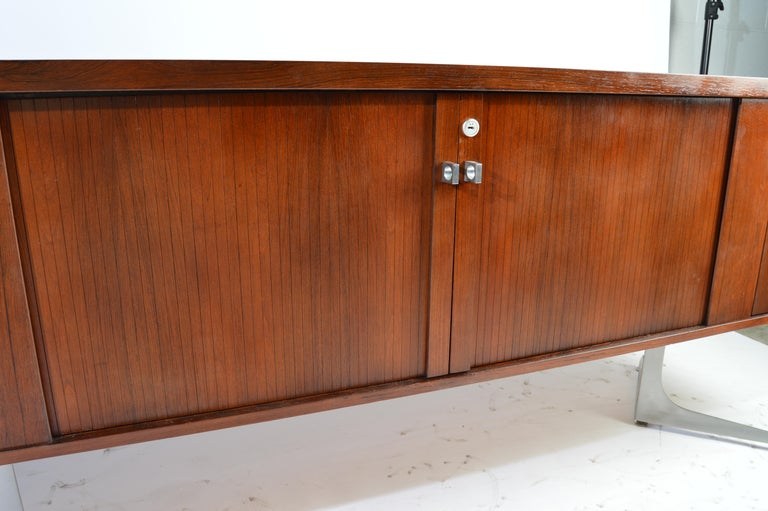 Mid-20th Century Herbert Hirche Minimalist 'Top Series' Rosewood Credenza For Sale