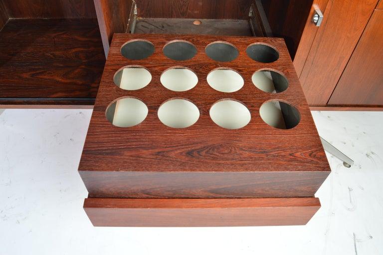 Herbert Hirche Minimalist 'Top Series' Rosewood Credenza For Sale 1
