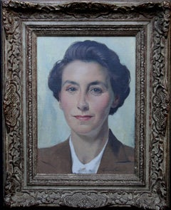 Portrait of a Lady - Scottish oil painting listed artist
