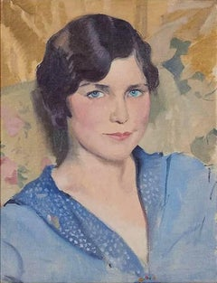 Portrait of Angela Blundell - 20th Century Oil