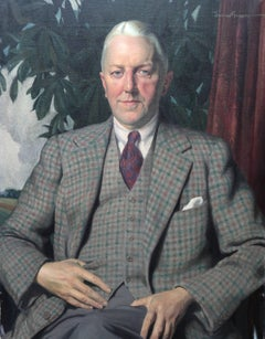 Sir Alexander Roger - Scottish art Glasgow artist 30's oil painting portrait