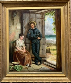 19th century English, the return of the sailor to his wife