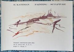 Vintage Lithograph Poster Herbert Katzman Terry Dintenfass Gallery NYC