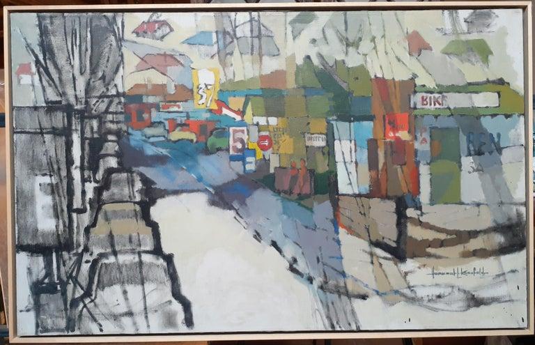 "Herbert Kornfeld Landscape Painting - California landscapes - ""Fast Trip through a Slow Down"", Frazier Park, Calif."