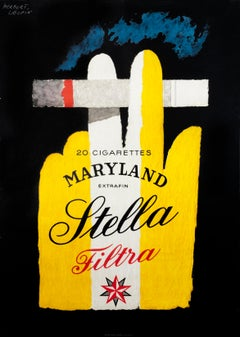"""""""Stella"""" Original Vintage Cigarette Poster"""