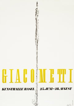 """Giacometti - Kunsthalle Basel"" Original Vintage Art Exhibition Poster"