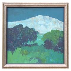 """Night Over Montagne Sainte-Victoire"" Impressionist Landscape"
