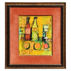 Untitled Warm Toned Abstract Impressionist Still Life