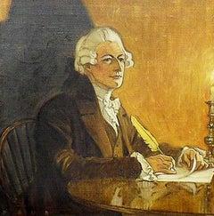 Alexander Hamilton at His Desk