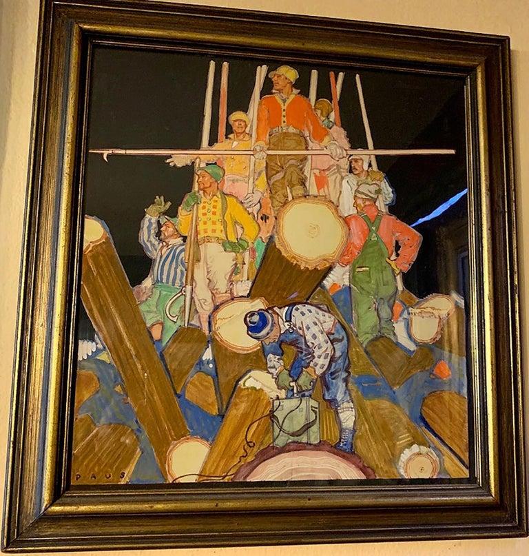 Lumberjacks - Painting by Herbert Paus
