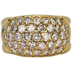 Herbert Rosenthal 18 Karat Yellow Gold Round White Diamond 1.50 Carat Band Ring