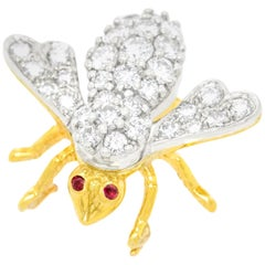 Herbert Rosenthal Diamond Bee Brooch