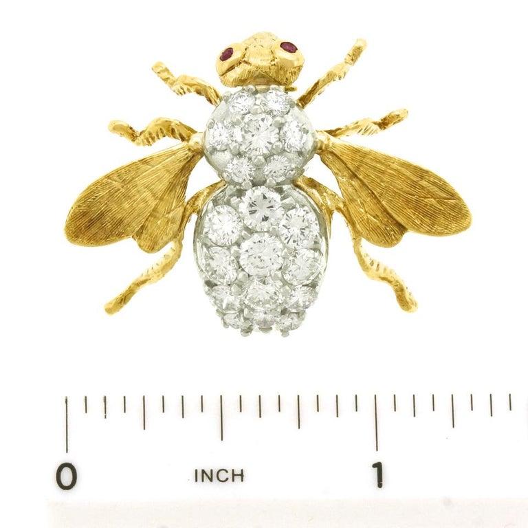 Herbert Rosenthal Diamond Bee Pin For Sale 2