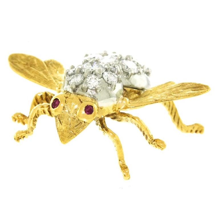 Herbert Rosenthal Diamond Bee Pin For Sale 3