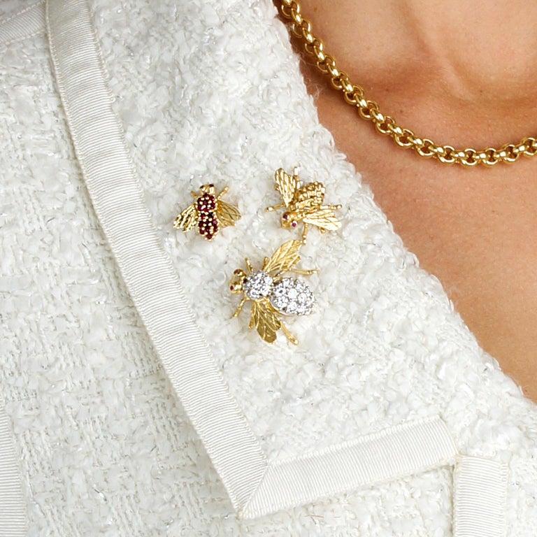Herbert Rosenthal Diamond Bee Pin For Sale 5