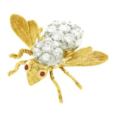 Herbert Rosenthal Diamond Bee Pin