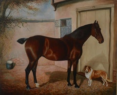 Dorothy and Carlo (Horse and Dog Portrait)