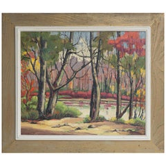 Herbert Steinke Original Signed Adirondack Oil Painting