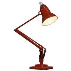 Herbert Terry Model 1227 Anglepoise Articulated Table Lamp Original Red Paint