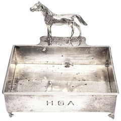 Herbst & Wassall Sterling Silver Figural Horse Business Card Holder