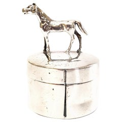 Herbst & Wassall Sterling Silver Figural Horse Postage Stamp Box