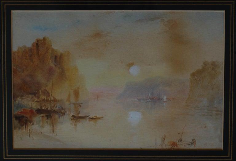 "Hercules Brabazon Brabazon Landscape Painting - ""On the Nile"""