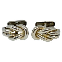 Hercules Knot Cufflinks in Sterling Silver by Ilias Lalaounis