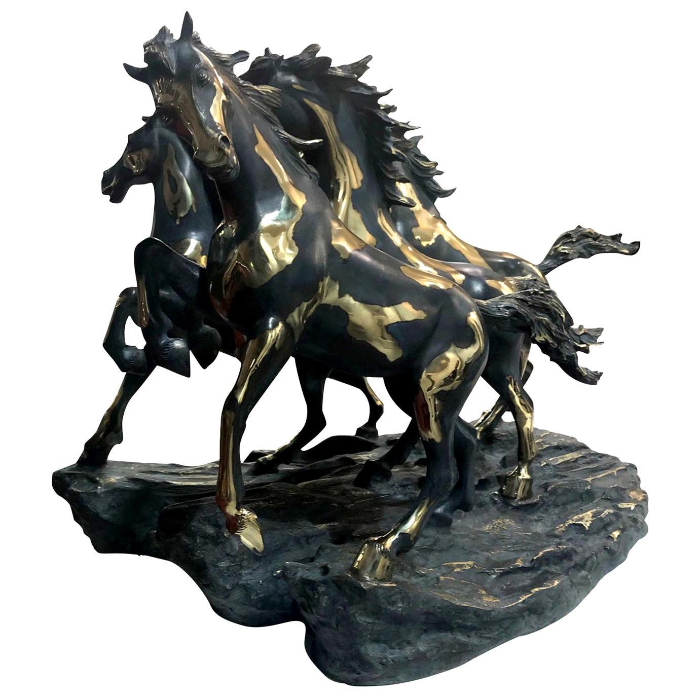 Herd of Horses Statuette