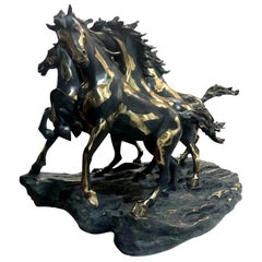 Herd of Horses Statuette