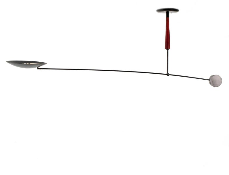 Very Large Counterbalanced Ceiling Mounted Swingarm Halogen Lamp And Flagship Of Dutch Lighting Specialists Herda S 1980s