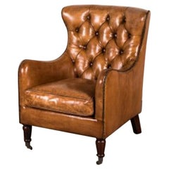 Hereford Leather Chesterfield Armchair, 20th Century