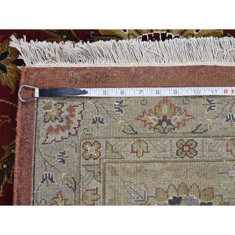 Hereke Design Wool and Silk Hand Knotted 300 Kpsi Oriental Rug For Sale 5