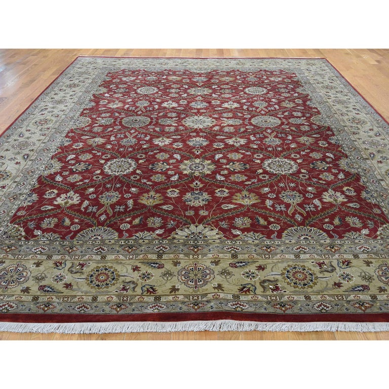 Other Hereke Design Wool and Silk Hand Knotted 300 Kpsi Oriental Rug For Sale