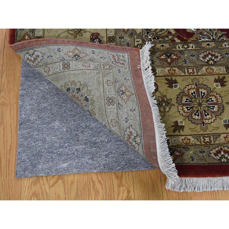 Hand-Knotted Hereke Design Wool and Silk Hand Knotted 300 Kpsi Oriental Rug For Sale