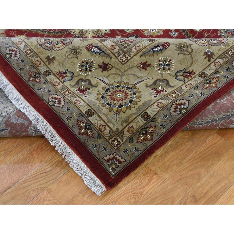 Contemporary Hereke Design Wool and Silk Hand Knotted 300 Kpsi Oriental Rug For Sale