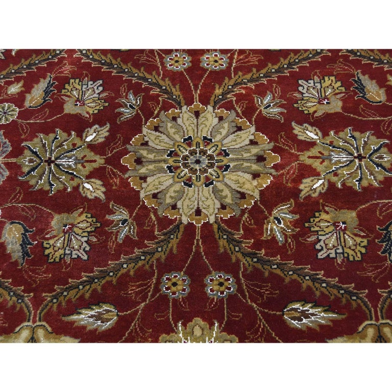 Hereke Design Wool and Silk Hand Knotted 300 Kpsi Oriental Rug For Sale 2