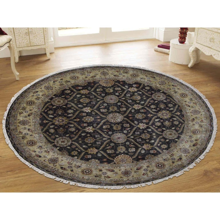This is a truly genuine one-of-a-kind Hereke design wool and silk hand knotted 300 Kpsi runner rug. It has been knotted for months and months in the centuries-old Persian weaving craftsmanship techniques by expert artisans. Measures: 9'0
