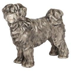 Herend Art Deco Porcelain Puli Sheepdog Figure by Gyula Maugsch