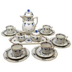 Herend Coffee Set of Six, Decor Lahore LHTBW Golden Painted Made, circa 1960