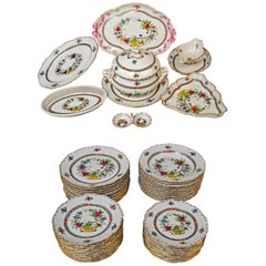 Herend Dinner Set for Twelve Persons Decor Fleurs des Indes Multicolored